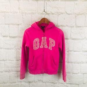 Kids Gap Zip Up Hooded Sweatshirt Pink